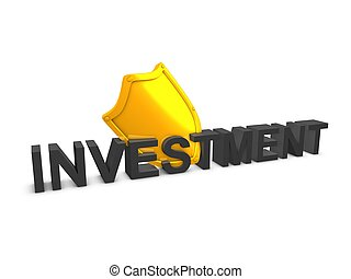 Investment shield - 3d image, Shield, investment protection,...