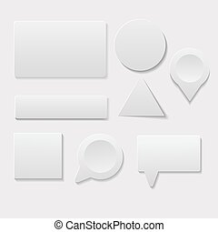 White card eps10 vector set