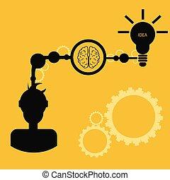 Vector brainstorm concept business idea eps 10