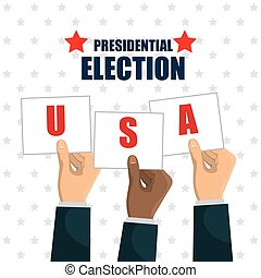 hand raised election presidential usa graphic