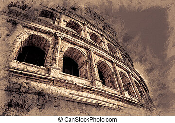 The Colosseum, an important monument of antiquity and is one...