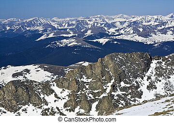 Panorama from Mt Evans, Colorado