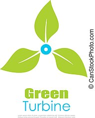 Green energy logo - Green energy conceptual logo