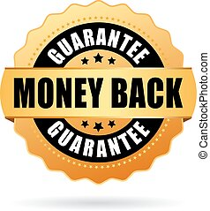 Money back gold icon