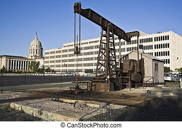 Pump in Oklahoma City - State Capitol of Oklahoma in...