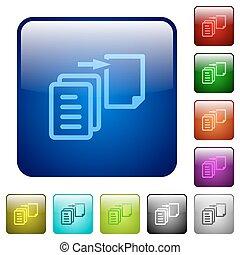 Color move file square buttons - Set of move file color...