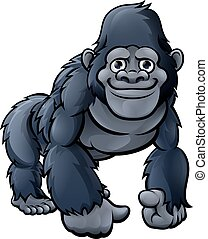 Cartoon Cute Gorilla