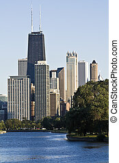 Downtown seen from Lincoln Park