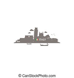 Italy skyline silhouette
