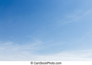 clear blue sky and cloud, cloudy summer background