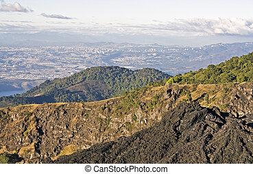 Guatemala City seen from Pacaya Volcano