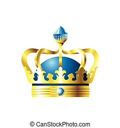 Crown with a blue crystal