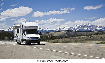 RV in mountains of Colorado