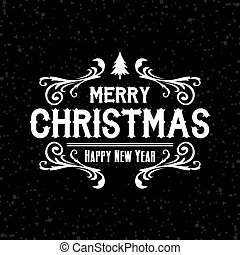 wish you merry christmas text theme vector art illustration