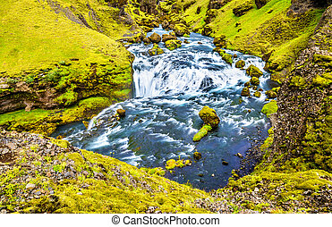 One of numerous waterfalls on the Skoga River - Iceland