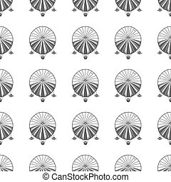 Vintage airship seamless pattern Retro Dirigible wallpaper...