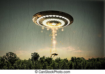 unidentified flying object - 3d illustration of un...