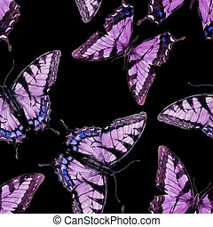 Watercolor butterfly pattern - Beautful pattern with nice...