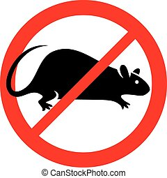 símbolo,  no, ratas, señal