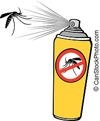 anti mosquito spray (repellent can)