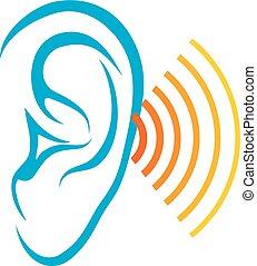 sound), prueba,  (ear, humano, oído