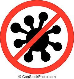 no bacteria sign