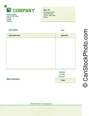 invoice template design