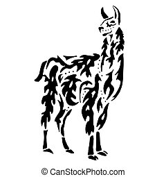 Lama drawing for coloring - High quality Lama drawing for...