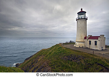 North Head Lighthouse in Washington Pacific Ocean Coast