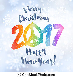 2017 Greeting card for peace