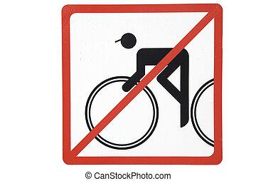 No bicycle sign, Prague