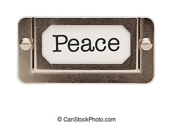 Peace File Drawer Label
