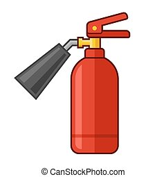 Fire Extinguisher Icon. Flat Style. Vector illustration