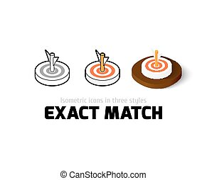 Exact match icon in different style - Exact match icon,...