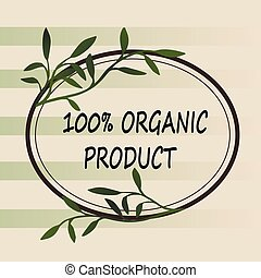 Oranic or natural logo for products
