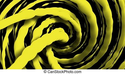 Rotating strings in yellow color