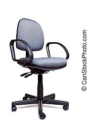 Office swivel chair side facing white background - Photo of...