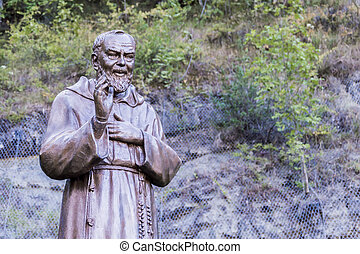 Saint Father Pio - Statue of Saint Father Pious in the...