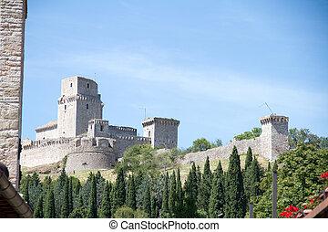 assisi - Rocca maggiore in assisi italy