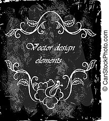 Vector calligraphy ornamental decorative frame