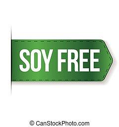 Soy Free sign ribbon