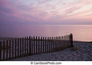 Sunset by Lake Michigan