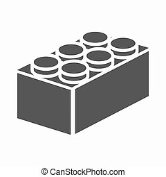 Building block black icon Illustration for web and mobile...