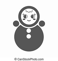 Roly Poly black icon. Illustration for web and mobile design.