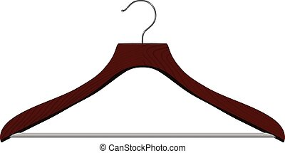 Realistic vector hanger on white background.