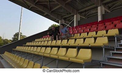 Sport fans watching match