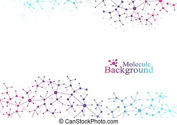 Structure molecule atom dna and communication background....