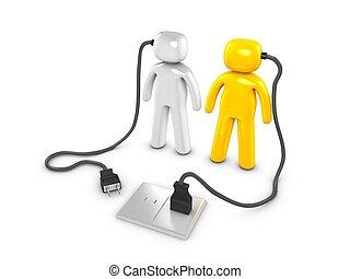 Energize - 3d image, conceptual people energized
