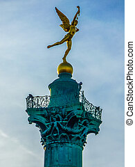 HDR Place de la Bastille Paris - High dynamic range (HDR)...