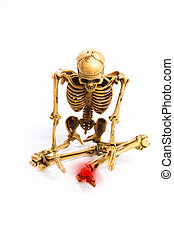 skeleton pain left wrist position sit down isolated